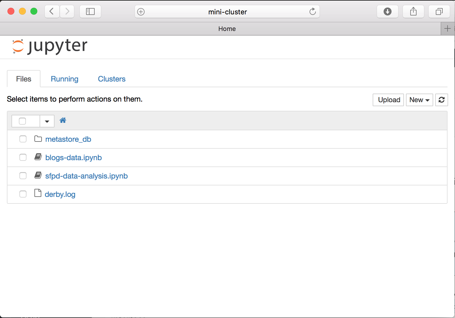 Jupyter Main Webpage